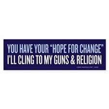 Clinging to Guns & Religion Bumper Sticker (10 pk)