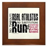 Real Athletes Run - Female Framed Tile