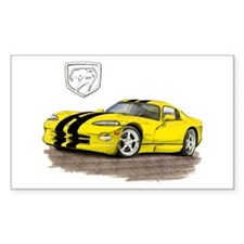 Viper Yellow/Black Car Rectangle Decal