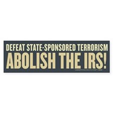 IRS Terrorism Bumper Sticker (10 pk)