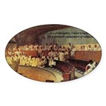Atheist Christmas Gift Cicero Oval Sticker