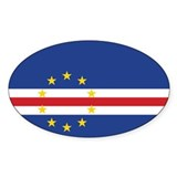 Cape Verde Flag Oval Sticker (10 pk)