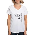 Photographer Women's V-Neck T-Shirt