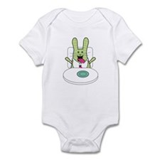 open wide funny Infant Bodysuit