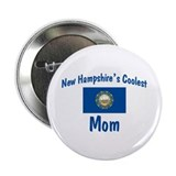 "Coolest New Hampshire Mom 2.25"" Button"