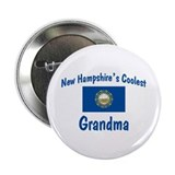 "Coolest New Hampshire Grandma 2.25"" Button"