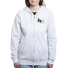 ABC Logo Zipped Hoodie