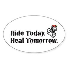 Ride Today Oval Decal