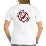 No Chains No Fights Women's V-Neck T-Shirt