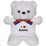 I Love Quinten Teddy Bear