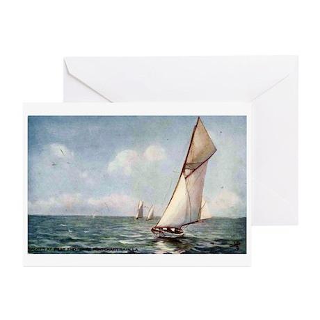 1911 Postcard - Sailing on La Greeting Cards (Pk o