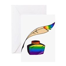 Rainbow Writer Greeting Card