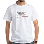 Film &amp; TV Producer White T-Shirt