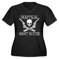 Skeptical ghost Women's Plus Size V-Neck T-Shirt