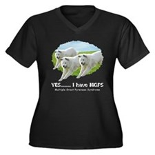 Multiple Great Pyrenees Syndr Women's Plus Size V-