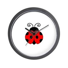 Polka Dot Lady Bug Wall Clock