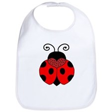 Polka Dot Lady Bug Bib
