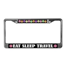 Eat Sleep Travel License Plate Frame