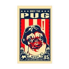 Pug USA Flying Ace! Rectangle Decal