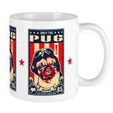 Obey the Pug! USA Flying Ace Freedom Coffee Mug