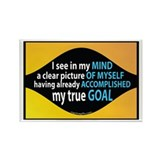 Visualize Goals Accomplished Rectangle Magnet (10