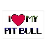 I LOVE MY PIT BULL  Postcards (Package of 8)