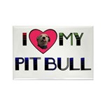 I LOVE MY PIT BULL Rectangle Magnet (10 pack)