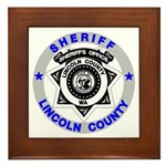 Sheriff Lincoln County Framed Tile