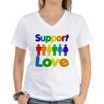 Support Love Women's V-Neck T-Shirt