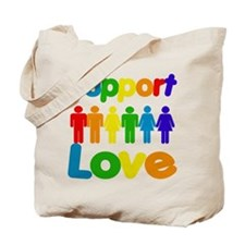 Support Love Tote Bag