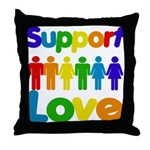 Support Love Throw Pillow