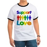Support Love Ringer T