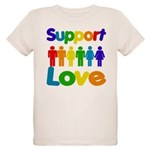 Support Love Organic Kids T-Shirt