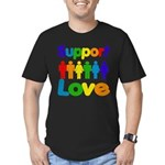 Support Love Men's Fitted T-Shirt (dark)