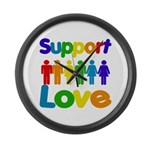 Support Love Large Wall Clock
