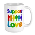 Support Love Large Mug