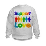 Support Love Kids Sweatshirt