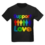 Support Love Kids Dark T-Shirt