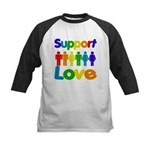 Support Love Kids Baseball Jersey