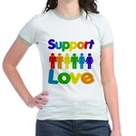 Support Love Jr. Ringer T-Shirt