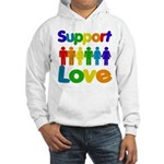 Support Love Hooded Sweatshirt