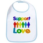 Support Love Bib