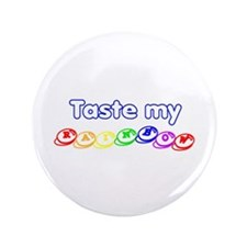 "Taste my rainbow! 3.5"" Button (100 pack)"