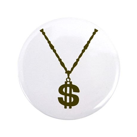 "Necklace - Dollar 3.5"" Button (100 pack)"