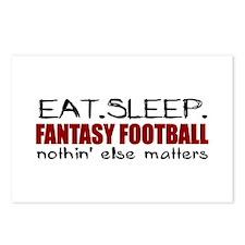 Eat Sleep Fantasy Football Postcards (Package of 8