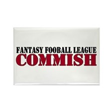 Fantasy Football Commish Rectangle Magnet (10 pack