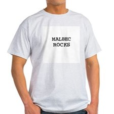MALBEC ROCKS Ash Grey T-Shirt