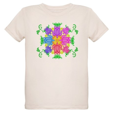 Flower Turtles Organic Kids T-Shirt