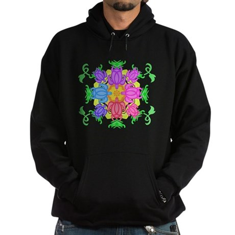 Flower Turtles Hoodie (dark)