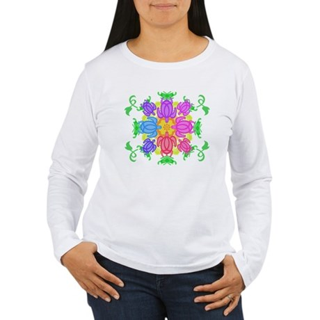 Flower Turtles Women's Long Sleeve T-Shirt